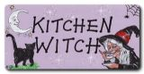 Kitchen Witch - cat and moon  fridge magnet